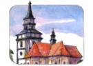 Kresba kostela sv. Jakuba v Předslavi